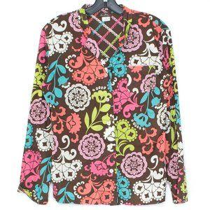 Vera Bradley Top Shirt Button Up Floral Small CJ